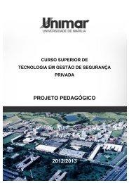 PROJETO PEDAGÓGICO 2012/2013 - Unimar