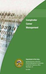 Comptroller Career Management Booklet - ASA(FM&C) - U.S. Army