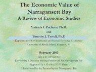 The Economic Value of Narragansett Bay - University of Rhode Island