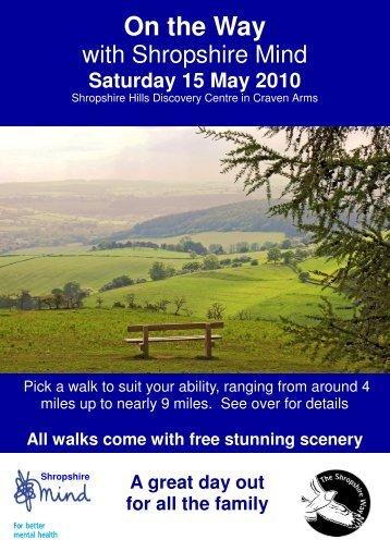 ON THE WAY — 2010 - Shropshire Walking