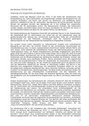 1 Das Bauhaus 1919 bis  1933 Ursprünge und Vorgeschichte des ...