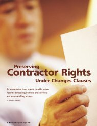 Contractor Rights - Lewis and Roca LLP