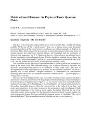 Metals without Electrons - Condensed Matter Theory - Imperial ...