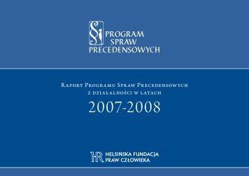 Raport Programu Spraw Precedensowych z działalności w latach
