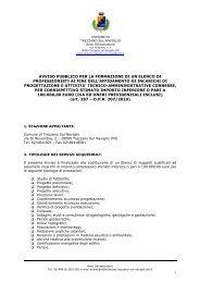 Avviso Pubblico Elenco Professionisti - Ordine dei Geologi della ...