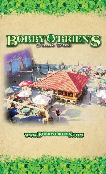 DINNER Menu - Bobby O'Briens