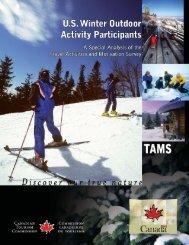 U.S. Winter Outdoor Activity Participants - Canadian Tourism ...