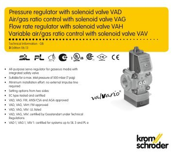 Industrial Solenoid Valve VAD Technical ... - Combustion 911