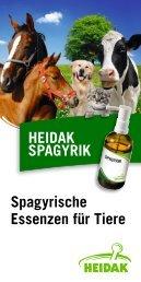 Spagyrische Essenzen für Tiere HEIDAK SPAGYRIK