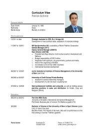 Curriculum Vitae Patrick Schmid - Triathlon Fribourg