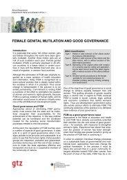 FEMALE GENITAL MUTILATION AND GOOD GOVERNANCE - Intact