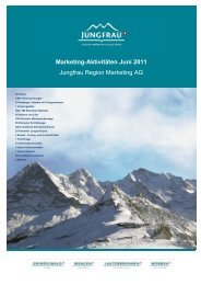 Marketing-Aktivitäten Juni 2011 Jungfrau Region Marketing AG