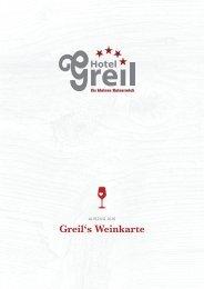 unsere aktuelle Weinkarte (Auszug als PDF). - Hotel Greil