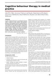 Cognitive Behaviour Therapy In Medical Practice - Australian ...