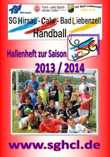 Hallenheft 2013/14! - SG HCL News