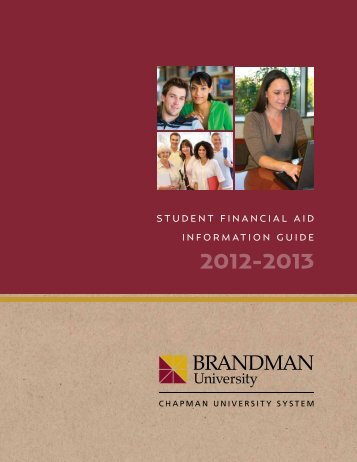 Student Financial aid inFormation Guide - Brandman University