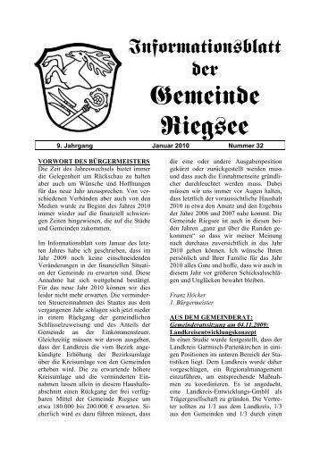 9. Jahrgang - Januar 2010 - Nummer 32 - Verwaltungsgemeinschaft ...