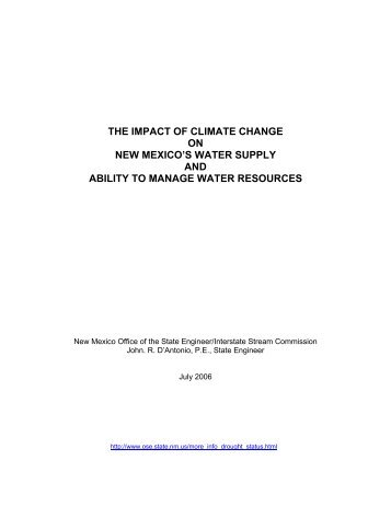 The Impact of Climate Change on New Mexico's Water Supply and ...