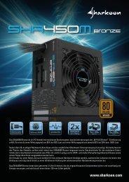 Das SHA450M Bronze ist ein PC-Netzteil mit modularem ... - Sharkoon