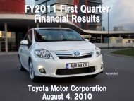 [PDF] FY2011 First Quarter Financial Results - Toyota