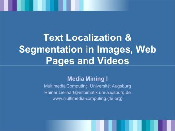 Text Localization & Segmentation in Images, Web Pages and Videos