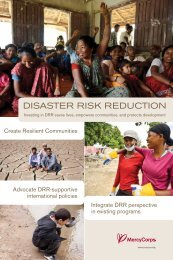 Disaster Risk Reduction at Mercy Corps