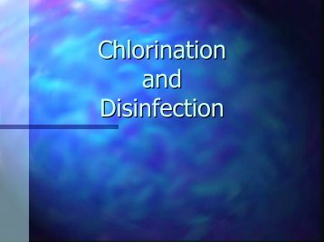 Chlorination and Disinfection