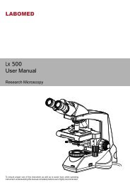 Lx 500.cdr - BMS and Labomed - high quality microscopes