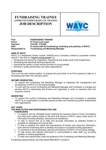 Job Description Job Title: Trainee Hr Officer Department: Human