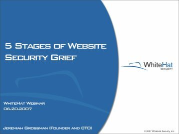5 Stages of Website Security Grief - WhiteHat Security