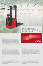 Electric Pallet Stackers Capacity 1400 and 1600 kg L14, L16/L14i ...