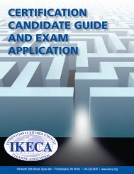 certification candidate guide and exam application - IKECA