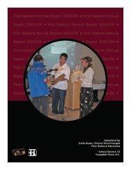 2003-2004 SD72 Aboriginal Education Annual Report