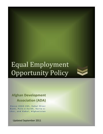 Equal Employment Opportunity Policy - Afghan Development ...