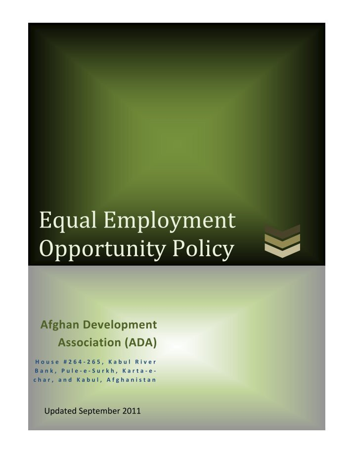 essay equality of opportunity Enjoy this custom essay example on the topic of equal employment opportunity it gives some useful information on why eeo is so important.