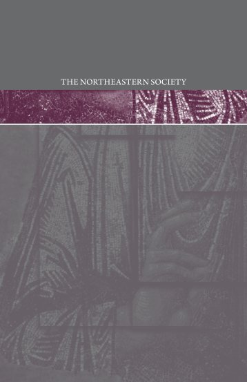 THE NORTHEASTERN SOCIETY - Northeastern Seminary