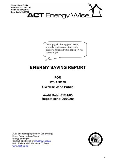 Prioritised List Of Improvements Home Energy Advice Team