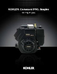 Performance Engineering - Kohler Engines