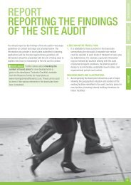 Reporting on the Site Audit - Moving Somerset Forward