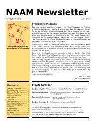 NAAM Newsletter - Netherlands-American Association of Minnesota