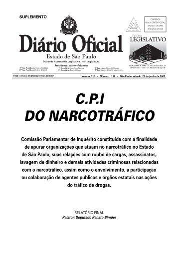 cpi do narcotráfico - Assembleia Legislativa do Estado de São Paulo ...