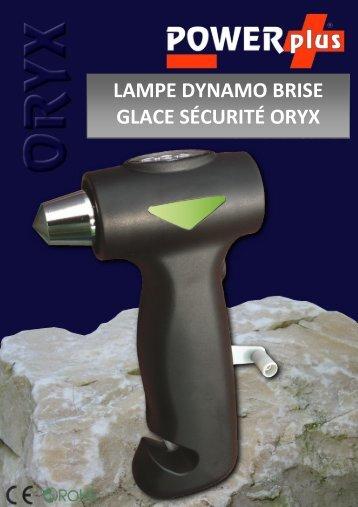 LAMPE DYNAMO BRISE GLACE SÉCURITÉ ORYX - Eqwergy