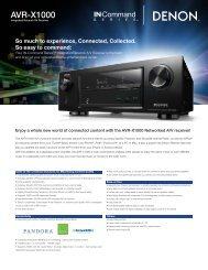 AVR-X1000 - Audio General Inc.