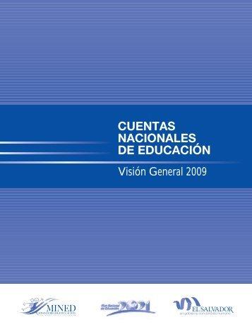 Cuentas Nacionales de Educación - Visión General 2009