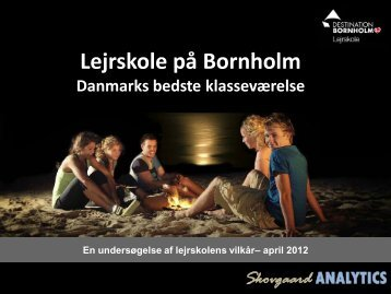 Skovgaard ANALYTICS - Destinationen.dk