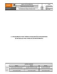 11. procedimiento para trámite de requisición extraordinaria de ...