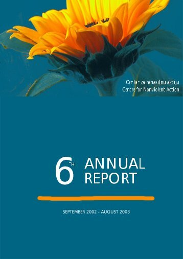 6th ANNUAL REPORT (2003) - Centre for Nonviolent Action