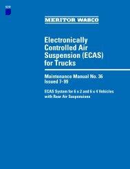 Electronically Controlled Air Suspension (ECAS ... - Meritor WABCO