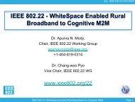 Wireless Regional Area Network - The IEEE Standards Association