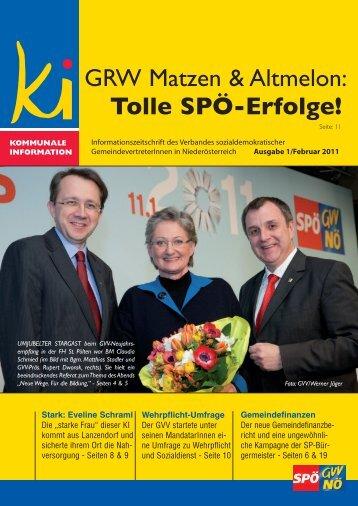 GRW Matzen & Altmelon - SPÖ Gemeindevertreterverband NÖ